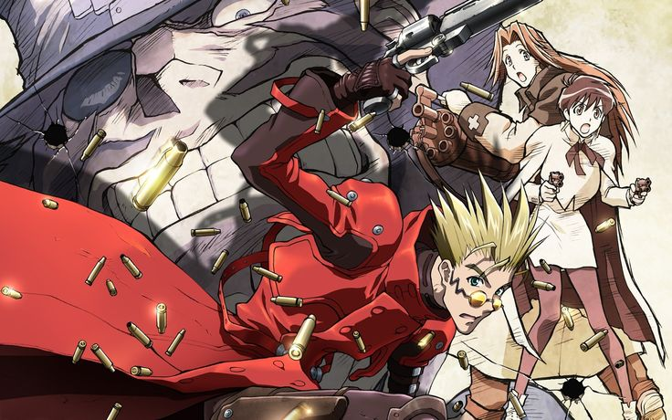 Vash the Stampede Trigun Anime Background Wallpapers on