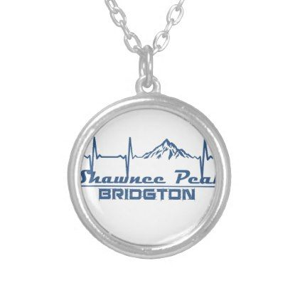 Shawnee Peak  -  Bridgton - Maine Silver Plated Necklace - jewelry jewellery unique special diy gift present