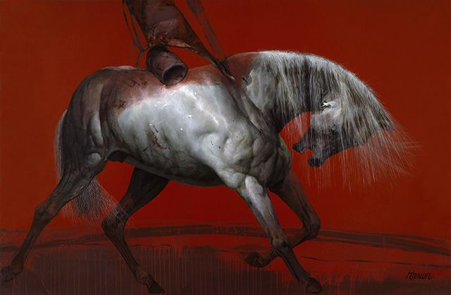 David Manzur Batalla Final::2009 / mixta sobre lienzo / 100x150cm