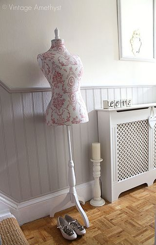 I'm thinking of doing this in the hall - love the look, just not sure how you stop it at the top of the stairs!