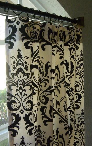 Exceptional One Pair Black And White Damask Curtains 84in Length By LuxuryLinenLoft On  Etsy Https:/