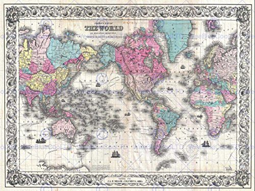 48 best maps images on pinterest maps old maps and antique maps world map century description map of the world centered on america prepared by the american altlas publisher joseph hutchins colton in gumiabroncs Gallery