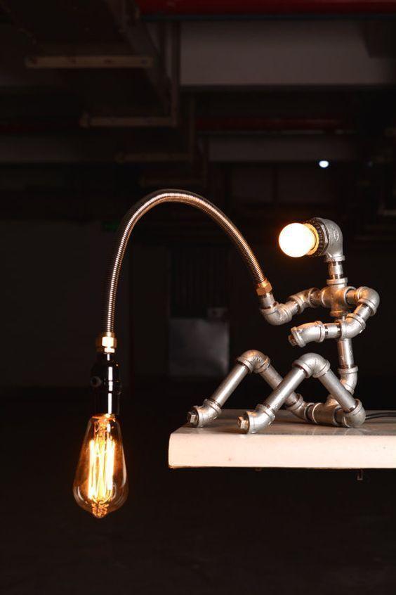 EBE Designer Industrial Lighting – Vintage Edison Steampunk Lamp Table Lamp Ligh …