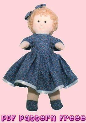 Cartamodelli gratuiti e Tutorial per Bambole di stoffa, Tutorial Bambola di Pezza gratis, Tutorial e Cartamodelli di Cucito Creativo per Bambole di pezza gratis