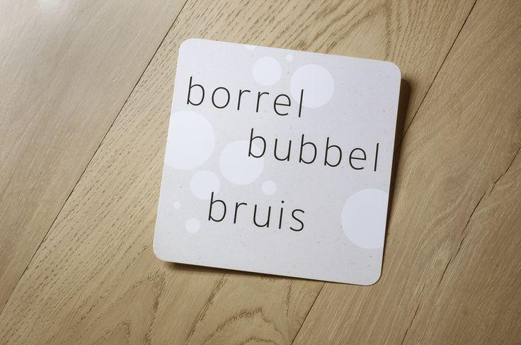 10 x borrel bubbel bruis + envelop