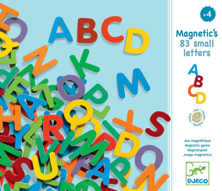This set of 83 wooden magnetic letters will make any fridge or white board a playground full of creative potential. Children can learn letters and create words with these small colourful letters from Djeco and have fun doing it.Suitable for ages: 4+ years.