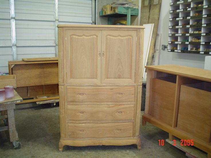 Unfinished Armoire.To be finished by AM Furniture Finishing.