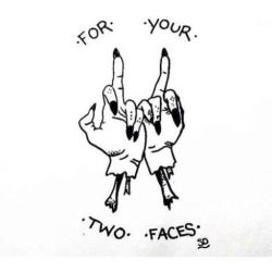 kittiehoshino: For all you two faced people out there!