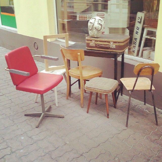 New ! #vintage #interiors #industrial #design #loft #retro #vintageshop #sklepvintage #poznan #brutfurniture #junkstyledesign #wnętrza #interiors #krzesło #stuhl #chair #table #tisch #sessel #interiorstyling  #taboret #zydel #suitcase #walizka #lata60te #60er #60s #60erjahre #instadesign