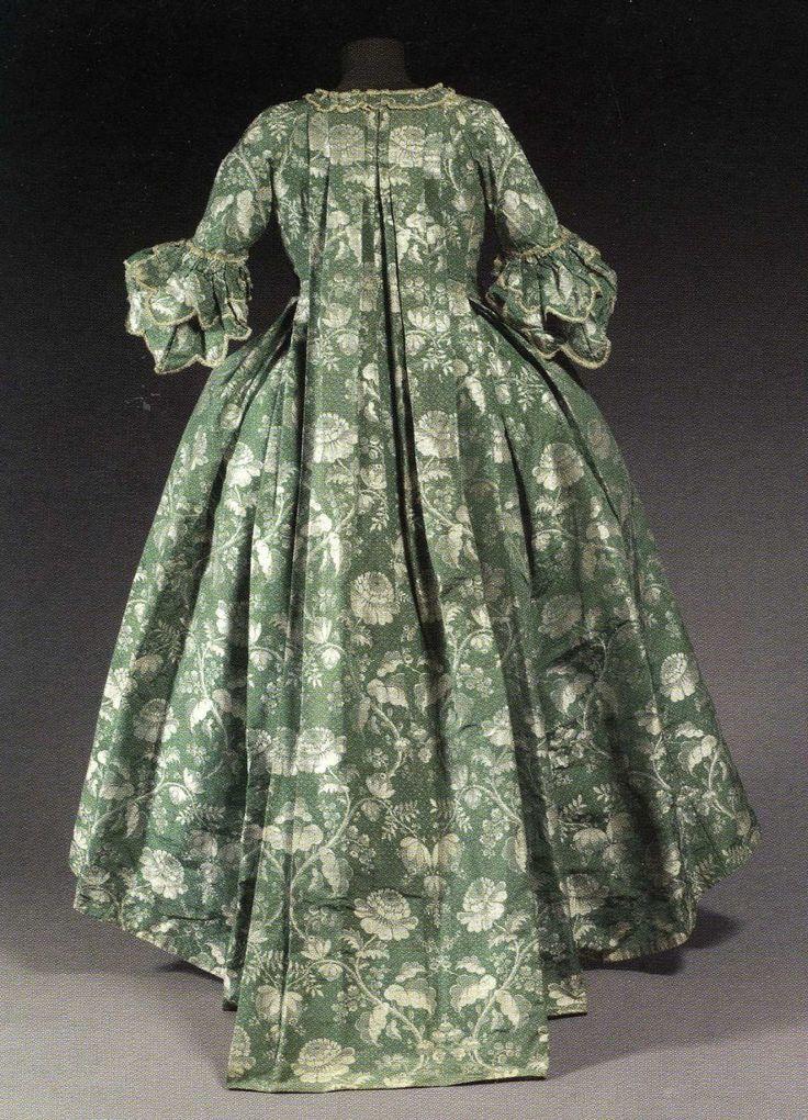 Robe à la française, 1755-1760.