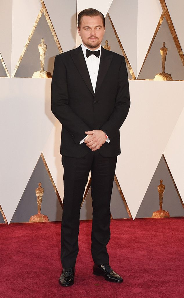 Leonardo DiCaprio from Best Dressed Men at the 2016 Oscars  All eyes are on Leonardo DiCaprio tonight (and not just because he's up for the most anticipated Oscar (arguably) ever). His classic and timeless style should never go overlooked.