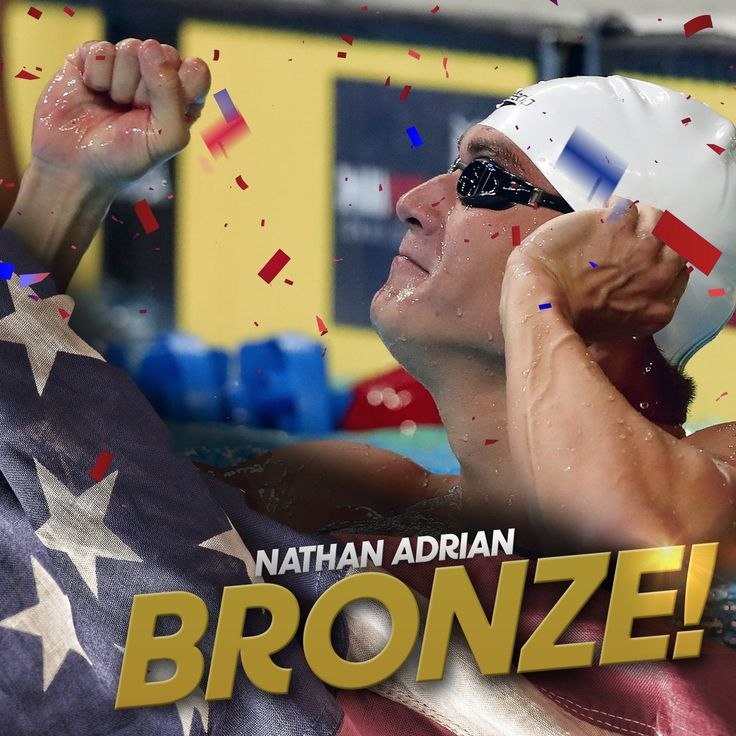 #BRONZE in the 100m Freestyle! @Nathangadrian wins his 6th Olympic medal. #Rio2016