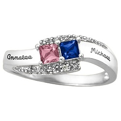 Mother's Ring- I don't like this style of ring but I like the idea of a ring with the kids birthstones.