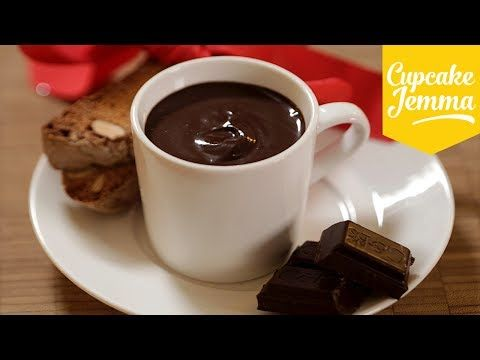 Served in espresso cups with dipping items (eg Biscotti) - Double Chocolate Dip Recipe | Cupcake Jemma - YouTube