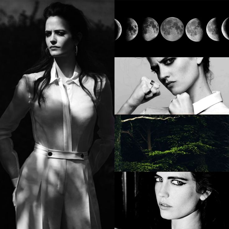 Eva Green as Artemis; In the classical period of Greek mythology, Artemis (Ancient Greek: Ἄρτεμις) was often described as the daughter of Zeus and Leto, and the twin sister of Apollo. She was the Hellenic goddess of the hunt, wild animals, wilderness, childbirth, virginity and protector of young girls, bringing and relieving disease in women; she often was depicted as a huntress carrying a bow and arrows.The deer and the cypress were sacred to her. -http://en.wikipedia.org/wiki/Artemis