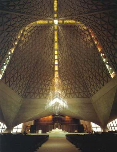 Cathedral of St. Mary of the Assumption by Pier Luigi Nervi and Pietro Belluschi in San Francisco