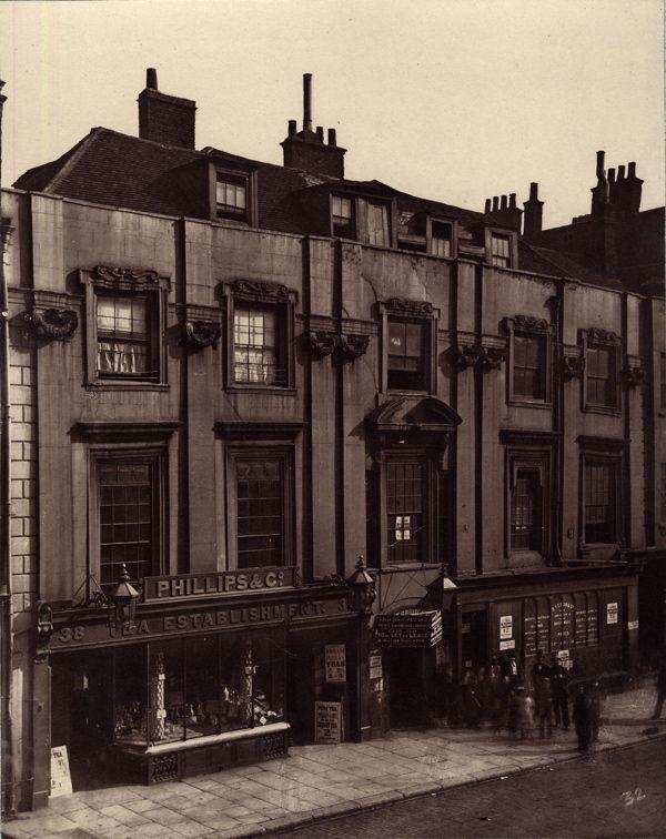Shaftesbury House by Inigo Jones in Aldersgate St, demolished after this photo was taken in 1882