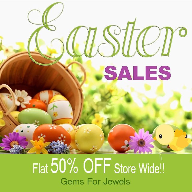 Hop on and experience the greatest sale- Flat 50% on all items listed on store.                 New beginnings  and new everlasting happiness .....Gemsforjewels wishes you a fantastic Easter!! Everyday a new collection coming up ..