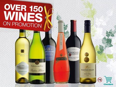 Stock up on festive season wines with Checkers!  With a selection of over 150 to choose from, you'll be spoilt for choice. Buy ANY 6 & get 20% OFF! You can even order online HERE>http://fal.cn/QRD