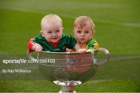 Awww, the young Mayo & Donegal supporters trying out 'Sam'   www.touchwood.ie