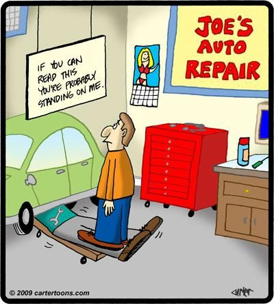We love to show customers our Westside Auto Pros repair area - but it has some risks lol