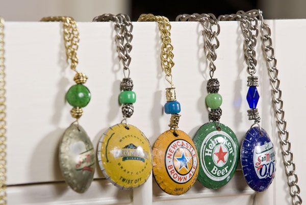52 best beer cap crafts images on pinterest beer cap for Beer cap jewelry