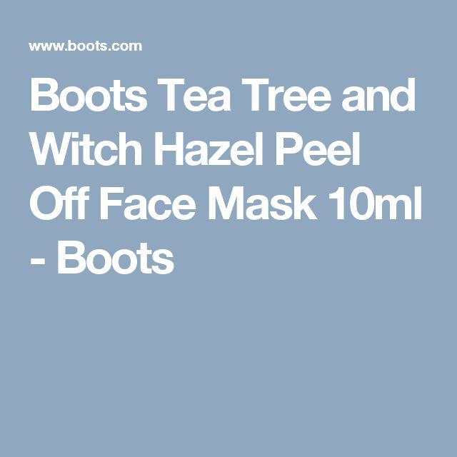 Boots Tea Tree and Witch Hazel Peel Off Face Mask 10ml - Boots