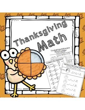 Thanksgiving Math!  14 pages for 1st and 2nd grades!