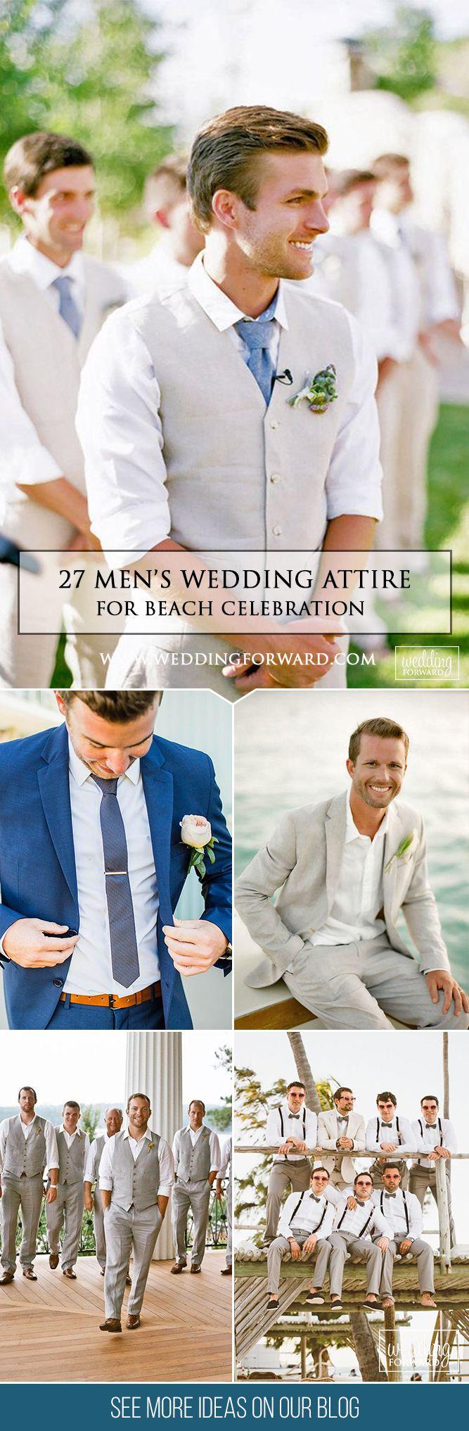 27 Men's Wedding Attire For Beach Celebration ❤ You have decided to do a beach wedding ceremony? Looking for men's wedding attire to be appropriate? See more: http://www.weddingforward.com/mens-wedding-attire/ #weddings #groom