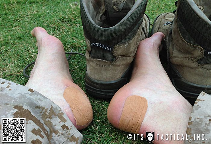 How To Take Care Of Your Feet And Prevent Blisters With Leukotape - http://SurvivalistDaily.com/how-to-take-care-of-your-feet-and-prevent-blisters-with-leukotape/