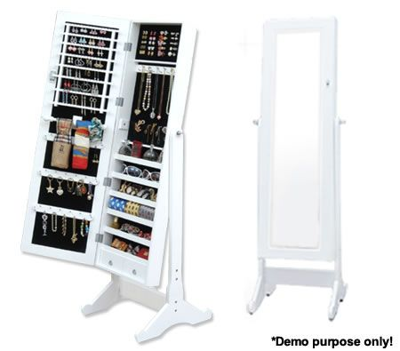 Full-length jewelry storage mirror- love this! I always seem to have jewellery everywhere and it's always unorganized!