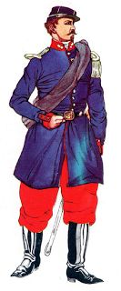 Officer of the line infantry: Local Italian recruits to the Papal Army 1860-1870.