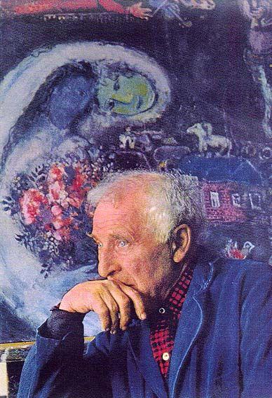 Marc Chagall, geboren als Movsja Zacharovitsj Sjagal. Vitebsk, 7 juli 1887 – Saint-Paul-de-Vence, 28 maart 1985) was een Frans kunstschilder van Joods-Wit-Russische afkomst. Zijn werk wordt vaak geassocieerd met het surrealisme. Maar eigenlijk valt zijn werk onder verschillende stromingen al maakt het nergens helemaal deel van uit. Chagall heeft een hele eigen stijl die dromerig aan doet. Hij haalde zijn inspiratie uit de Russische volkskunst en het volksleven, zijn herinneringen aan zijn…
