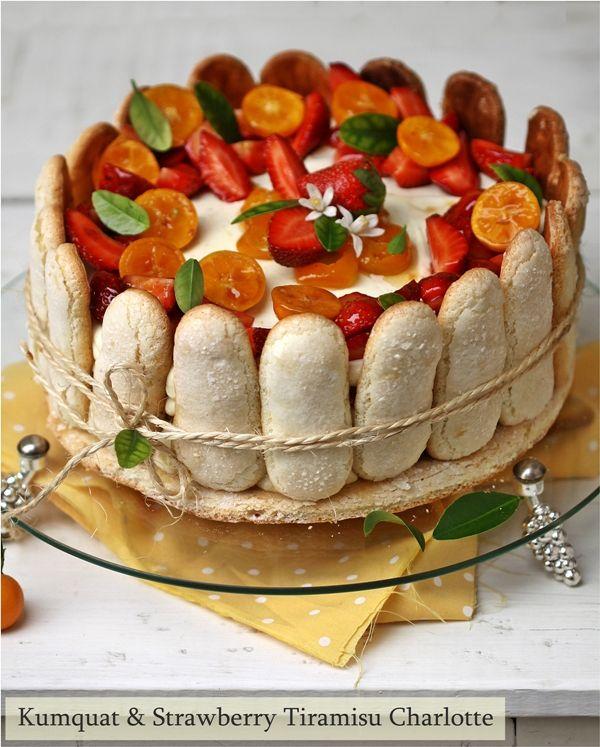 Kumquat & Strawberry Tiramisu Charlotte … In season with kumquats {and strawberries too}
