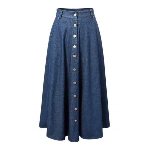 Best 25  Button front denim skirt ideas on Pinterest | Summer ...