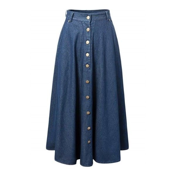 Best 20  Long Blue Skirts ideas on Pinterest | Long skirts, Long ...