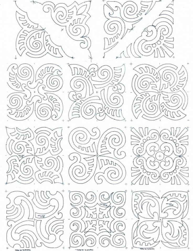 maori moko block set composite works for a soutache pattern