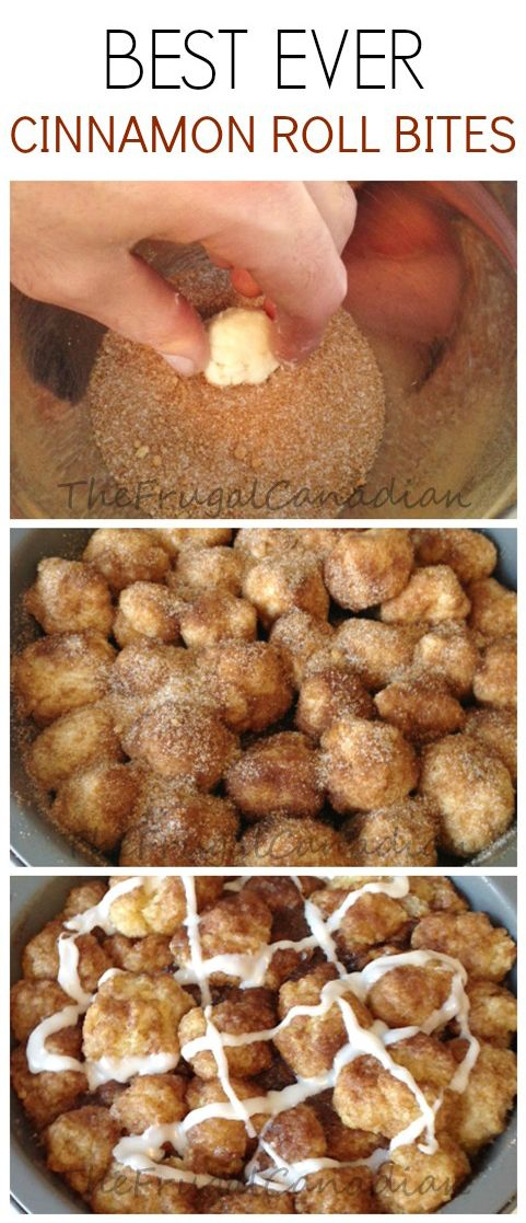 Best Ever Cinnamon Roll Bites, Homemade Recipe