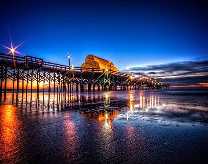 Sunrise apache pier myrtle beach south carolina for Pier fishing myrtle beach