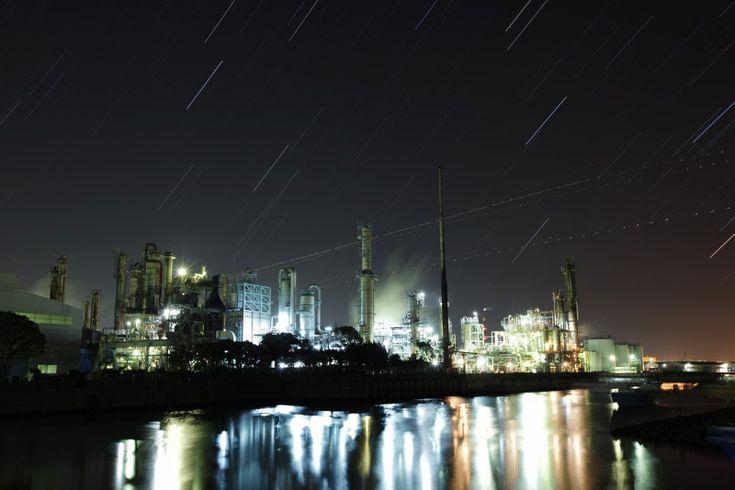 川崎の工場夜景と星空 | 星空のある風景写真BLOG