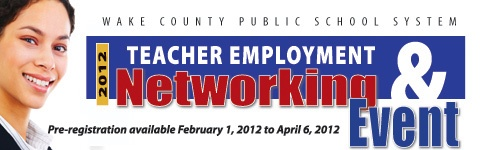 Teacher employment fair Wake County