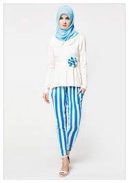 trend baju muslim jersey motif bagi wanita