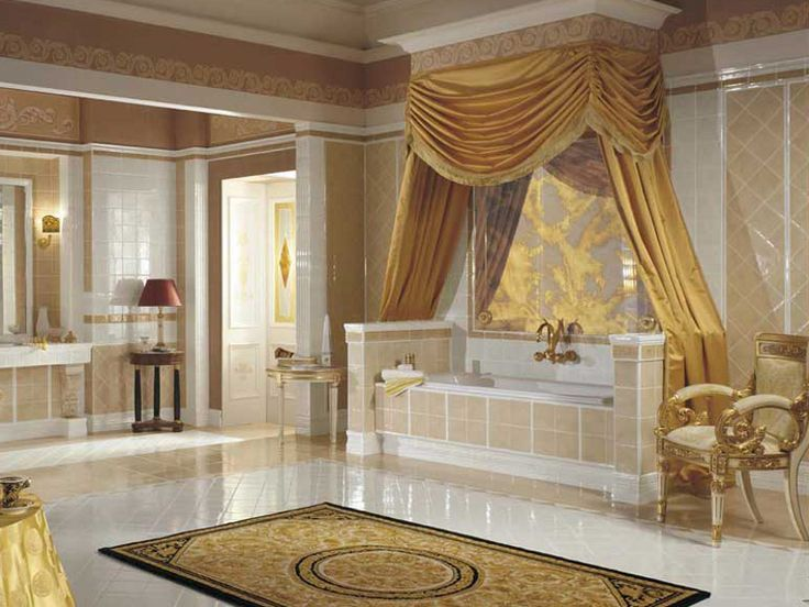 Floor wall tiles double firing luxor versace home by for Luxor baths