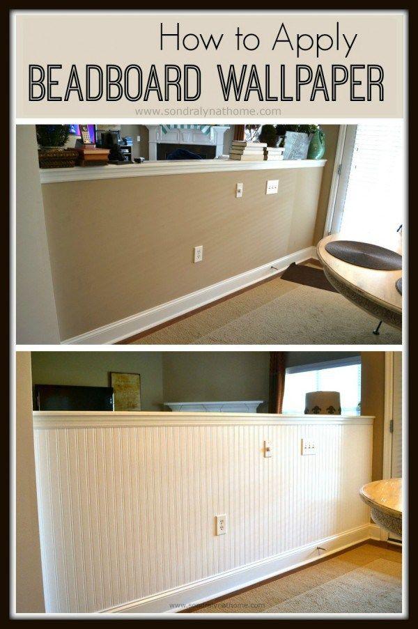 How to Apply Beadboard Wallpaper-- Sondra Lyn at Home
