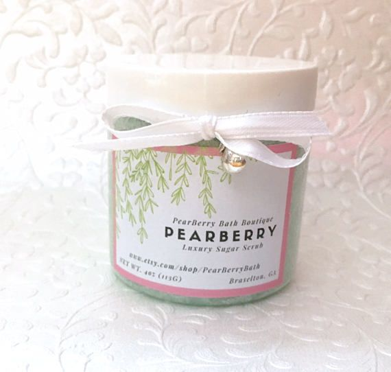 PearBerry Luxury #SugarScrub #BodyPolish #BathandBody #lush and Beauty #Skincare #handmade #etsy #homemadesugarscrub