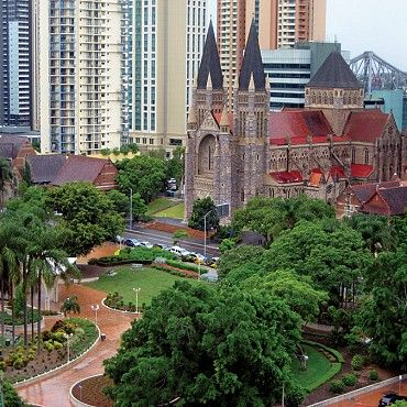 St John's Cathedral: precinct lends an old-world charm to its modern surrounds. It includes this rare example of a Queensland Gothic cathedral, The Deanery (1853), Webber House (1904), Church House (1909) and St Martin's House (1922) #boh2014 #unlockbrisbane #brisbane #discoverbrisbane