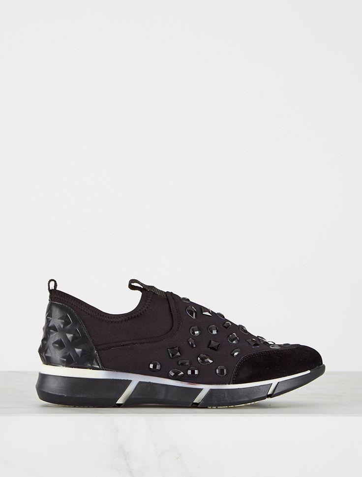 SPOR AYAKKABI Davis Siyah Taşlı Spor Ayakkabı