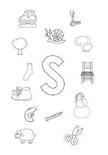 Welk plaatje/woord begint met de letter s?