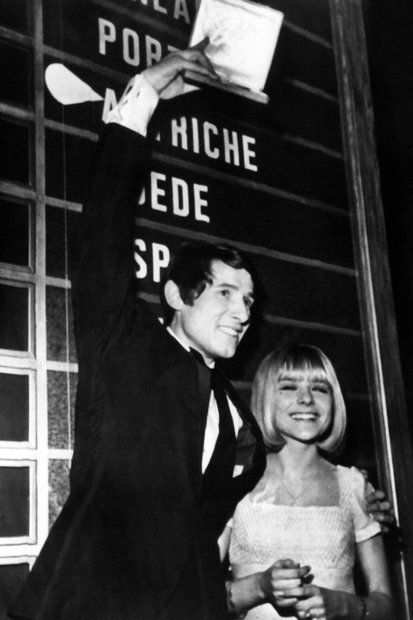 Eurovision Song Contest 1966: winner Udo Jürgens, Austria with France Gall