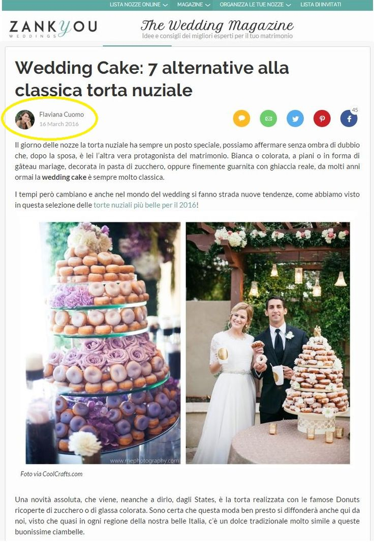 My wedding tips on Zankyou Magazine. About alternative wedding cake very orginal ;)